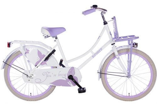 spirit-omafiets 22 inch wit paars