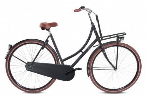 avant carrier dames transportfiets 28 inch mat zwart