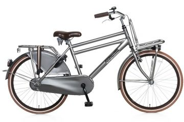 popal daily dutch basic jongens transportfiets 24 inch grijs