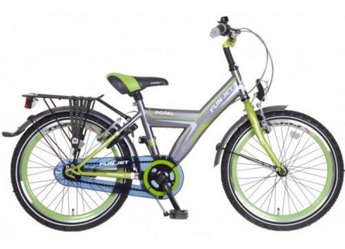 popal-fun-jet-jongens-fiets grijs groen