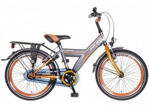 popal-fun-jet-jongens-fiets grijs oranje