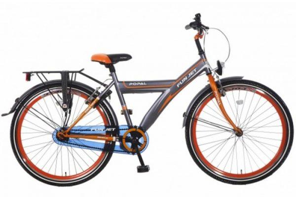 popal-fun-jet-jongens-fiets-2608-grijs-oranje
