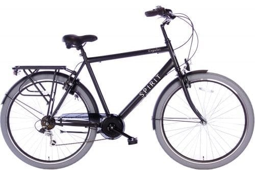 Spirit-Regular-Heren Stadsfiets 28inch men-mat-zwart-2837-2017-500x450