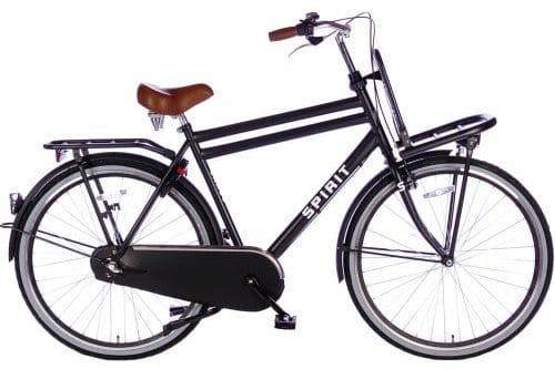 spirit-cargo-plus 28 inch Dames transportfiets -mat-zwart-2896-500x450