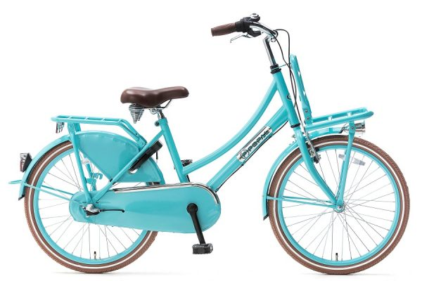 popal daily dutch plus 22 inch meisjes transportfiets turquoise