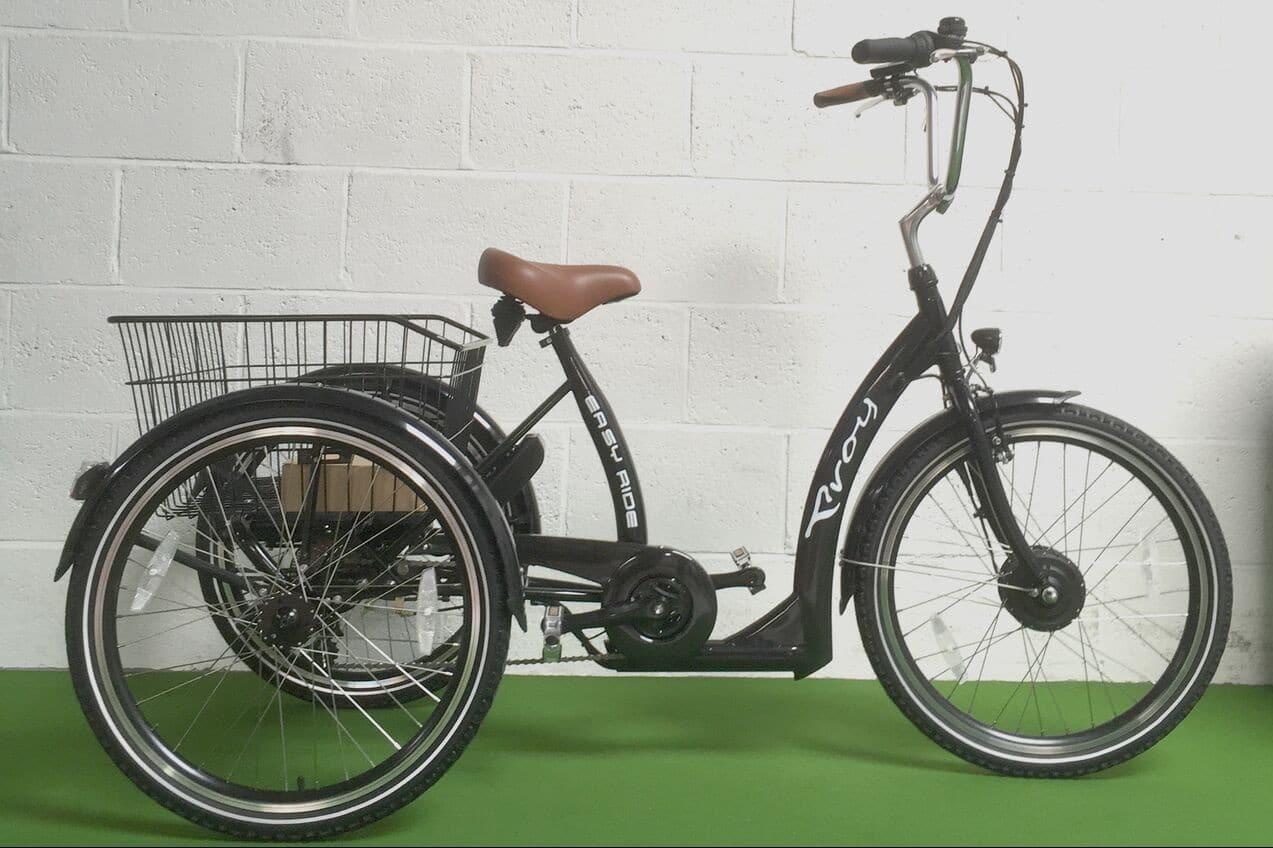 Goede Popal Elektrische Driewieler fiets 24 inch Grijs Online Kopen? HN-63
