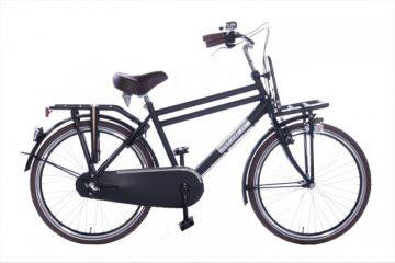 Static-Transportfiets-24-inch-N3-Jongensfiets-mat-zwart
