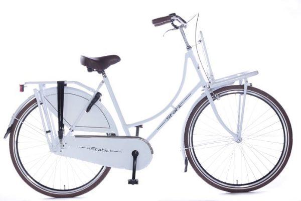 Static omafiets 26 inch wit meisjes transportfiets 26 inch