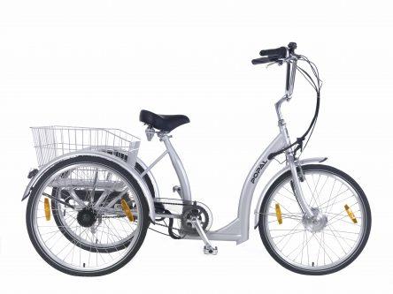 Popal E-bike Luxe driewielerfiets 24 inch Luxe Zilver
