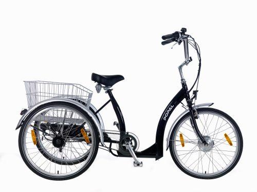 Popal E-bike driewielerfiets 24 inch Luze Zwart