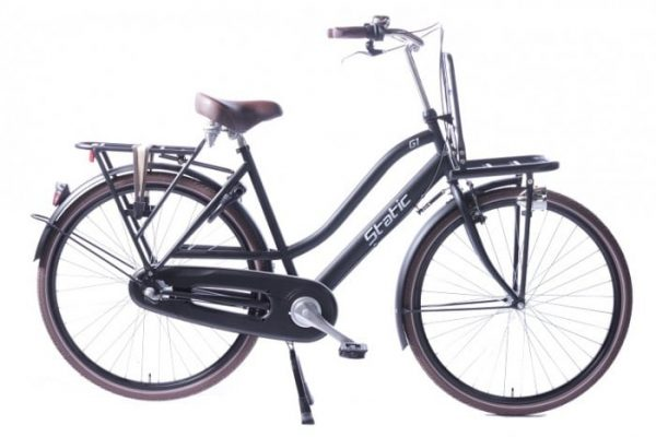 Static Glamour 28 inch dames transportfiets Mat-zwart