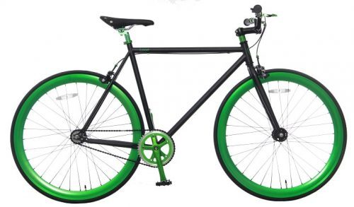 Vogue Loco Fixed Gear 28 inch Mat-zwart Green