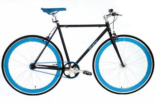 Static Fixed Gear 28 inch 57cm Mat-zwart blauw