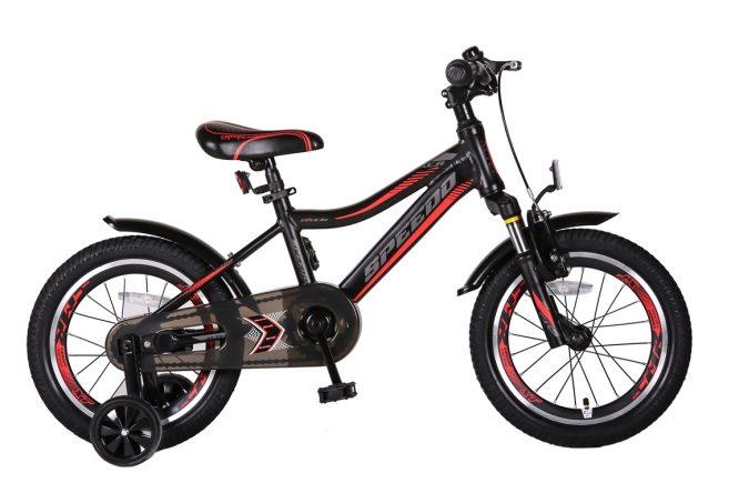 Speedo-16-inch-jongensfiets-Alu-frame-Zwart-Rood