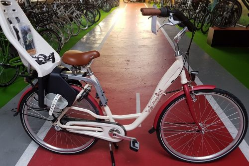 Vogue Mona moederfiets Cream Red