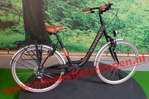 highlander city damesfiets mat zwart 2