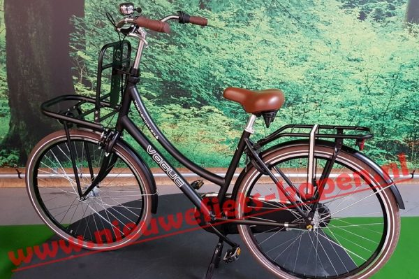 vogue transporter plus dames transportfiets mat zwart 4
