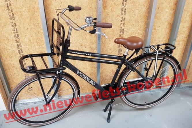 vogue transporter plus heren transportfiets mat zwart 2