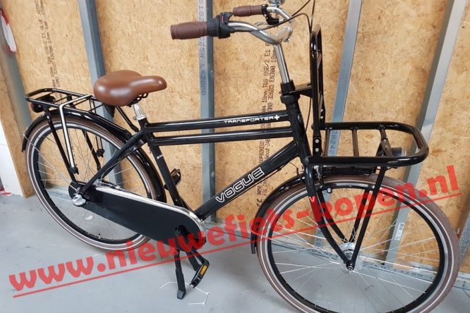 vogue transporter plus heren transportfiets mat zwart