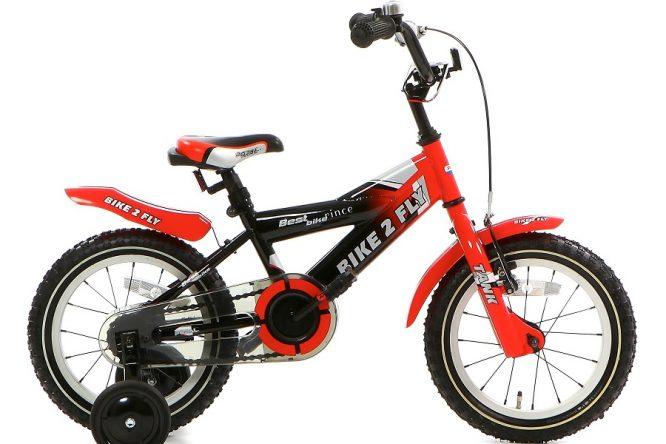 popal bike 2 fly jongensfiets 14 inch rood