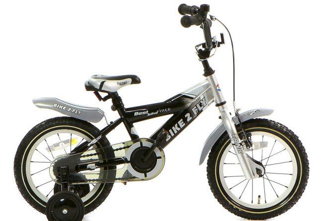 popal bike 2 fly jongensfiets 14 inch zwart