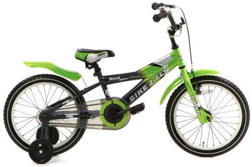 popal bike 2 fly jongensfiets 16 inch groen