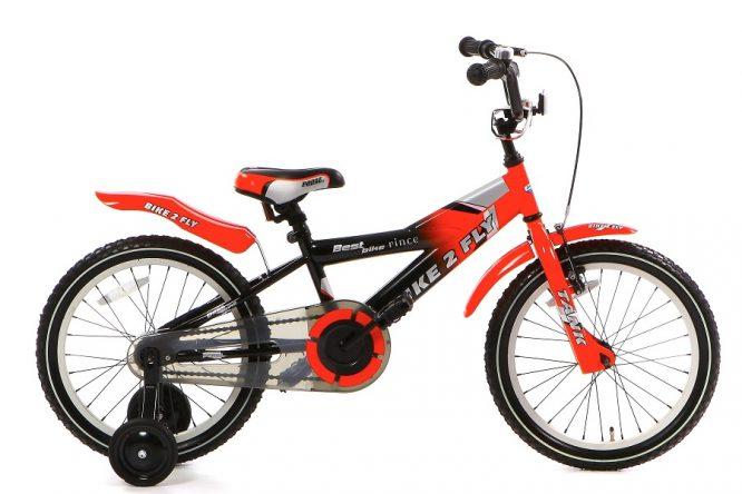 popal bike 2 fly jongensfiets 16 inch rood