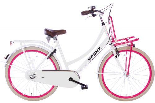 spirit-cargo-N3-wit-roze-26 inch meisjesfiets