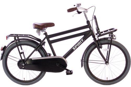 spirit-cargo-jongensfiets-mat-zwart-22-inch
