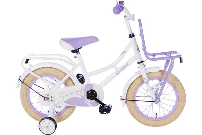 spirit-omafiets 14 inch wit paars
