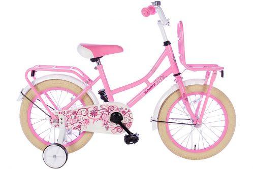 spirit-omafiets 16 inch roze