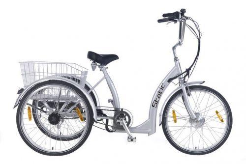 static elektrische driewieler 3 speed grijs
