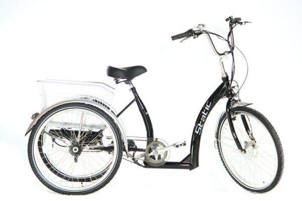 static elektrische driewieler 3 speed zwart