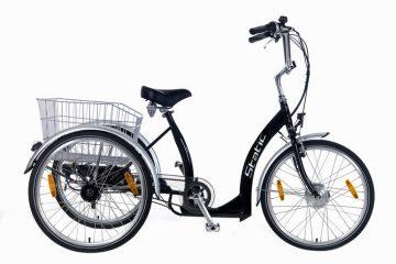 static elektrische driewieler 7 speed zwart