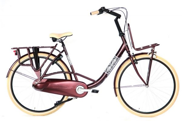 Static Mary moederfiets 28 inch bordeaux