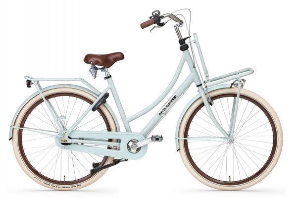 popal prestige N7 dames transportfiets 28 inch remnaaf shodow green