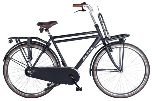 Altec-Urban-28inch-Transportfiets-Heren-58cm-Mat-Zwart-2018