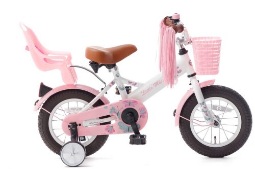 little miss 12 inch meisjesfiets wit