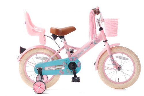 little miss 14 inch meisjesfiets roze