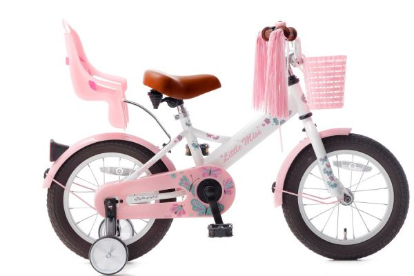 little miss 14 inch meisjesfiets wit