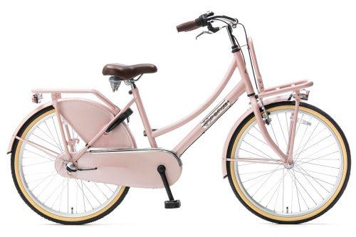 popal daily dutch plus 24 inch meisjes transportfiets zalm roze
