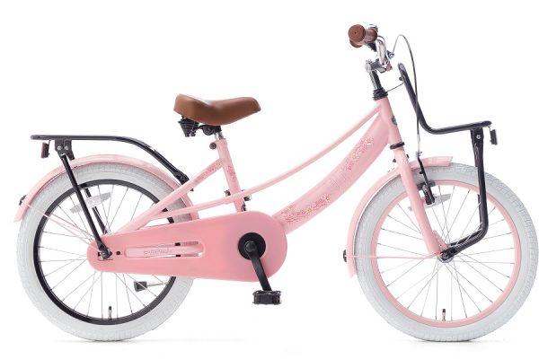 popal lola 16 inch meisjesfiets roze zwart