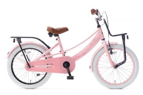 popal lola 18 inch meisjesfiets roze zwart
