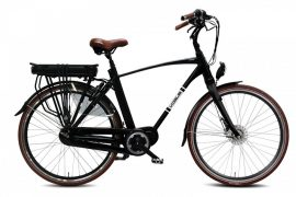 VOGUE DISCOVER Elektrische herenfiets 28'' Matt Black 8SP e-bike Man 53 cm (1020248)