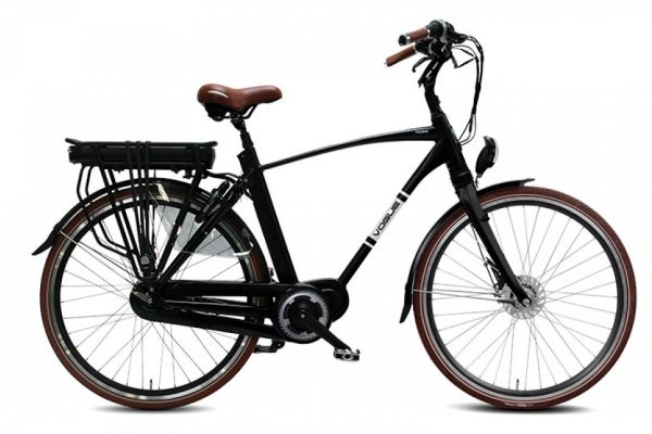 VOGUE DISCOVER Elektrische herenfiets 28'' Matt Black 8SP e-bike Man 53 cm (1020248)