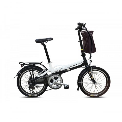 Vogue Phantom E-Bike vouwfiets 20 inch zwart-wit
